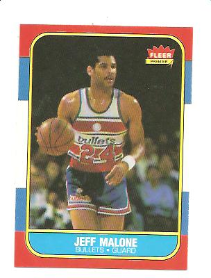 1986-87 Fleer #67 Jeff Malone RC