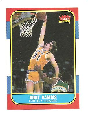 1986-87 Fleer #89 Kurt Rambis RC