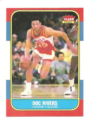 1986-87 Fleer #91 Doc Rivers RC