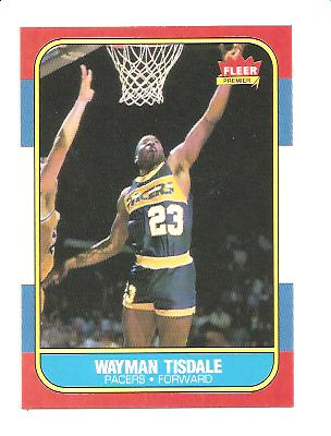 1986-87 Fleer #113 Wayman Tisdale RC