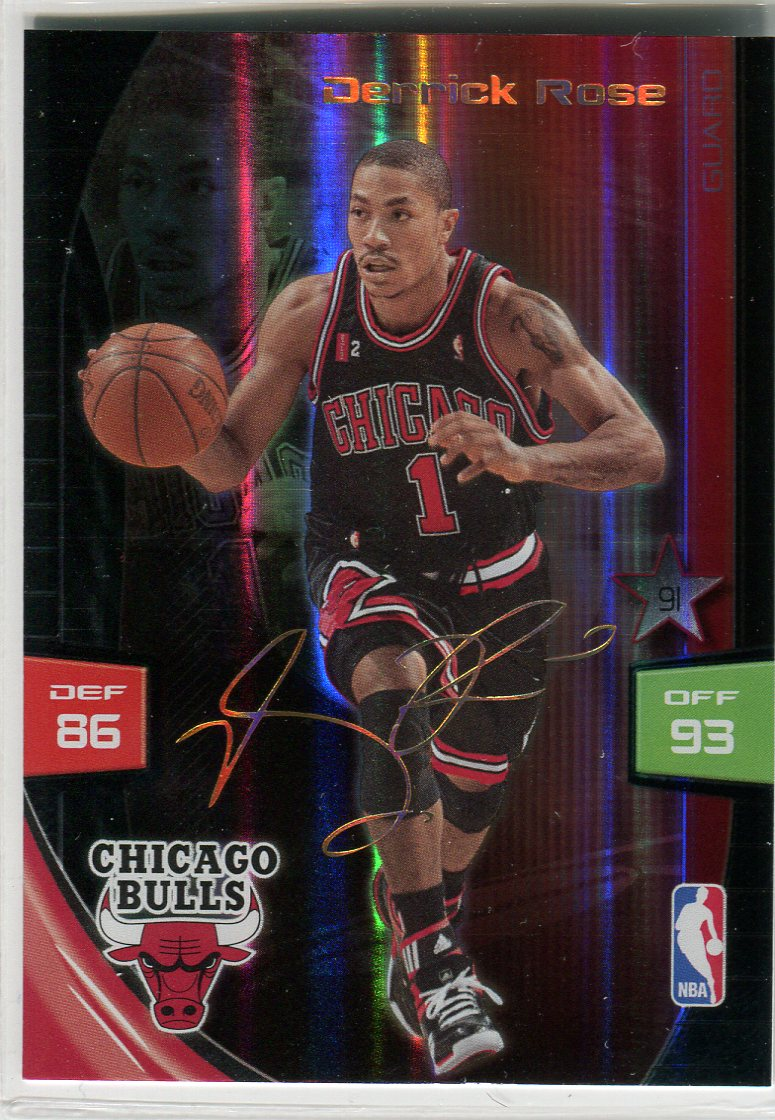 2009-10 Adrenalyn XL Extra Signature #25 Derrick Rose