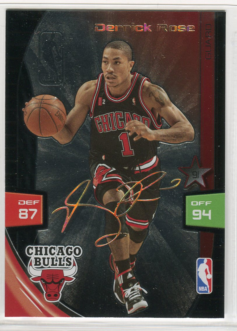 2009-10 Adrenalyn XL Ultimate Signature #25 Derrick Rose