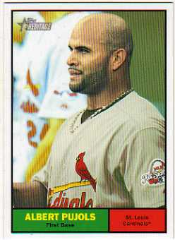 2010 Topps Heritage #1b Albert Pujols/Dice Back SP