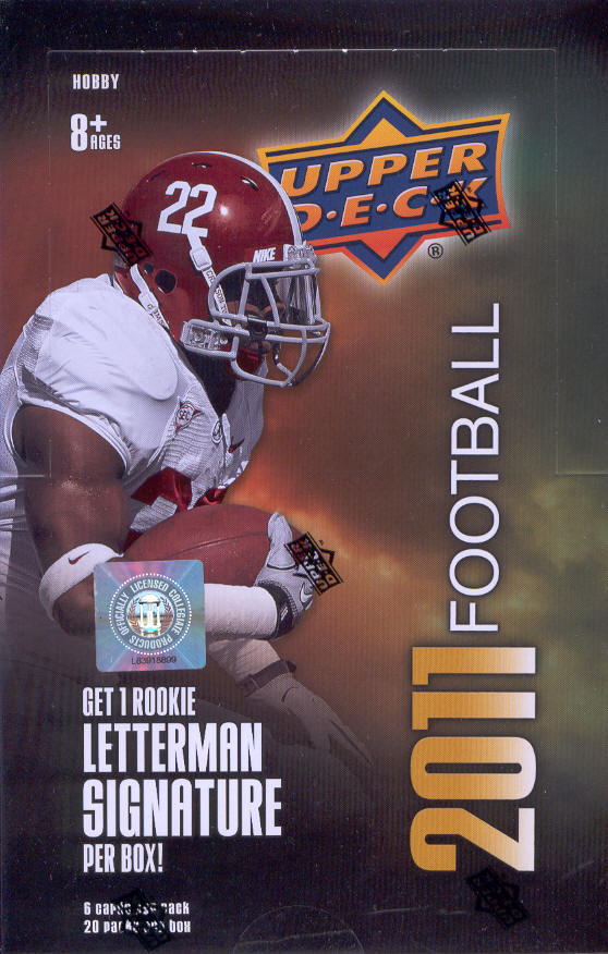 2011 Upper Deck Football Cards Hobby Box