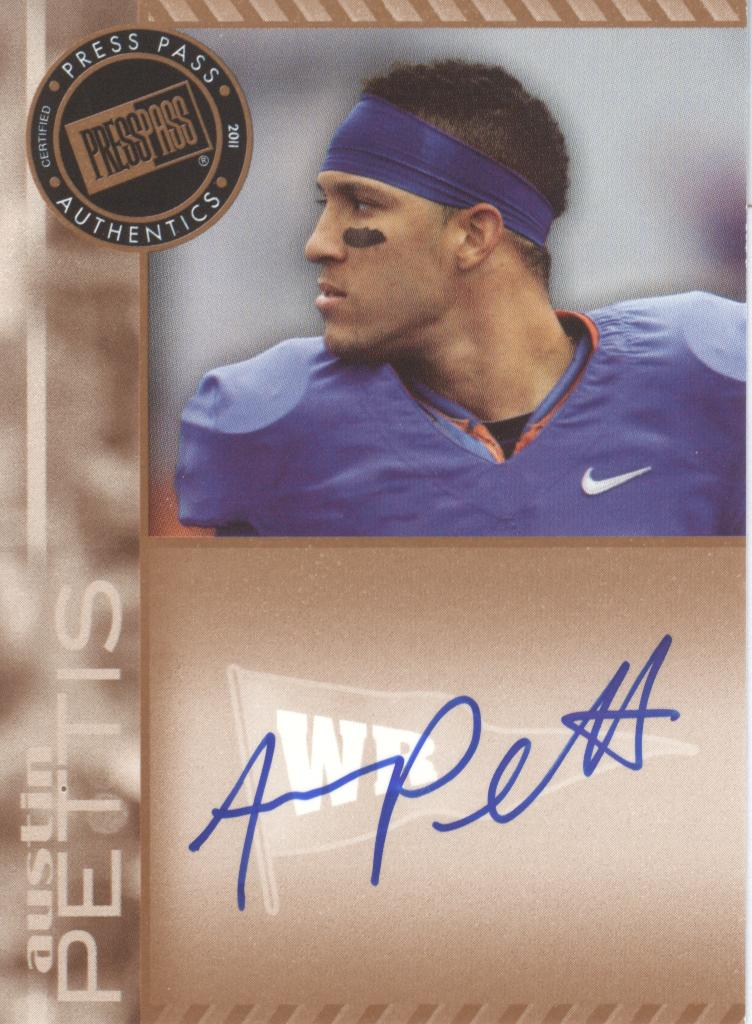 2011 Press Pass Autographs Bronze #PPSAP Austin Pettis
