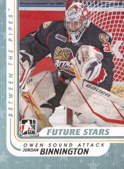 2010-11 Between The Pipes #19 Jordan Binnington