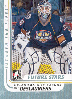 2010-11 Between The Pipes #63 Jeff Deslauriers
