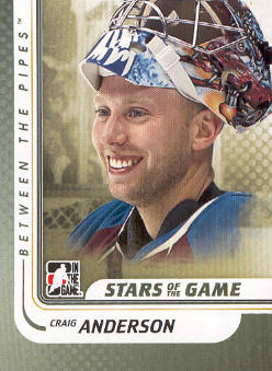 2010-11 Between The Pipes #99 Craig Anderson