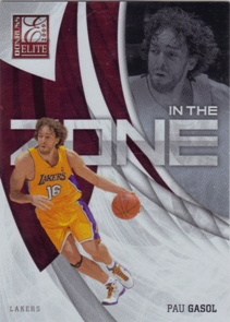 2009-10 Donruss Elite In the Zone Red #4 Pau Gasol
