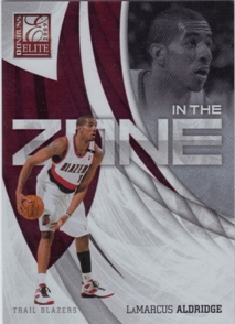 2009-10 Donruss Elite In the Zone Red #20 LaMarcus Aldridge