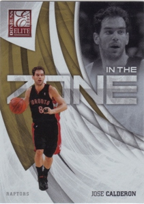 2009-10 Donruss Elite In the Zone Gold #16 Jose Calderon