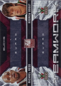 2009-10 Donruss Elite Teamwork Combos Red #16 Andrew Bogut/Michael Redd