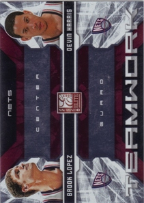 2009-10 Donruss Elite Teamwork Combos Red #18 Brook Lopez/Devin Harris