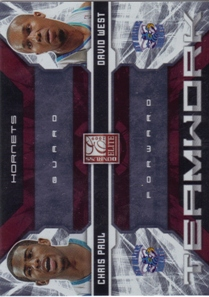 2009-10 Donruss Elite Teamwork Combos Red #19 Chris Paul/David West
