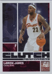 2009-10 Donruss Elite Clutch Performers Red #2 LeBron James