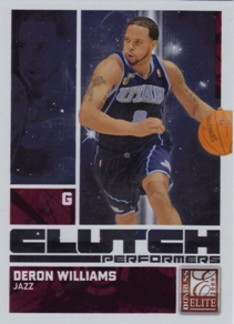 2009-10 Donruss Elite Clutch Performers Red #8 Deron Williams