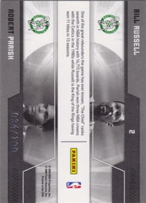2009-10 Donruss Elite Passing the Torch Gold #2 Bill Russell/Robert Parish