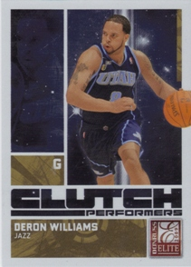 2009-10 Donruss Elite Clutch Performers Gold #8 Deron Williams