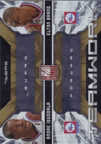 2009-10 Donruss Elite Teamwork Combos Gold #23 Andre Iguodala/Elton Brand