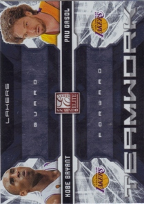2009-10 Donruss Elite Teamwork Combos #13 Kobe Bryant/Pau Gasol