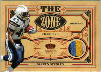 2010 Crown Royale The Zone Materials Prime #3 Darren Sproles/50