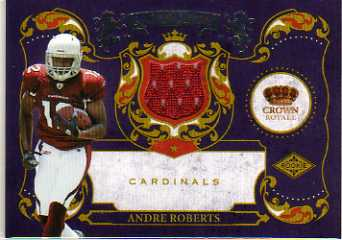 2010 Crown Royale Rookie Royalty Materials #4 Andre Roberts
