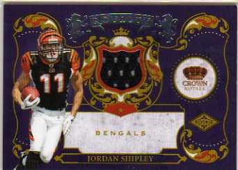 2010 Crown Royale Rookie Royalty Materials #30 Jordan Shipley