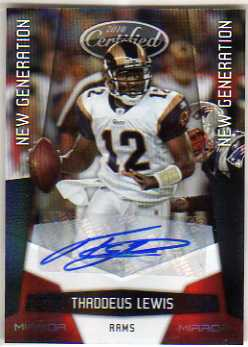 2010 Certified Mirror Red Signatures #266 Thaddeus Lewis/250