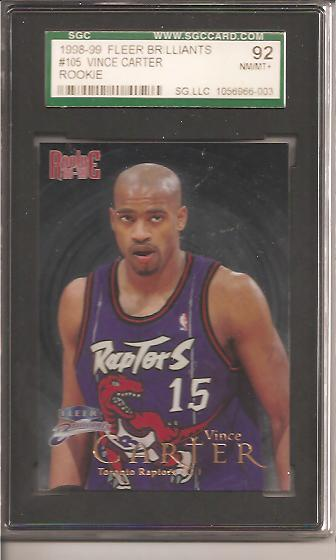 1998-99 Fleer Brilliants #105 Vince Carter RC