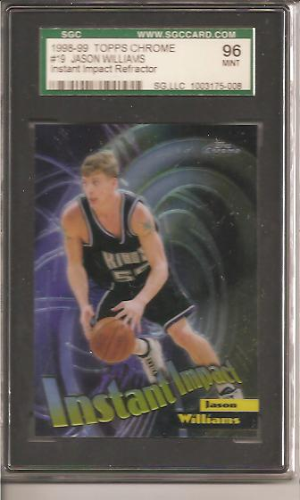 1998-99 Topps Chrome Instant Impact Refractors #I9 Jason Williams