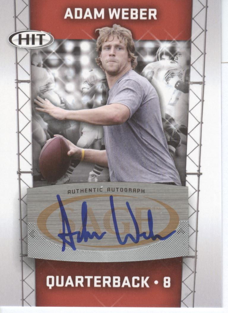 2011 SAGE HIT Autographs #68 Adam Weber