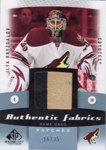 2010-11 SP Game Used Authentic Fabrics Patches #AFIB Ilya Bryzgalov