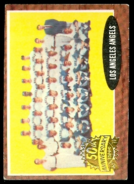 2011 Topps Heritage 1962 Buybacks #132 Los Angeles Angels TC (No Inset Photos)