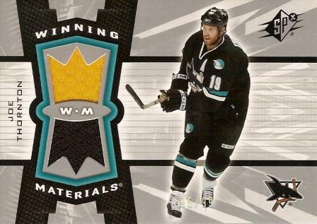 2006-07 SPx Winning Materials Spectrum #WMTH Joe Thornton