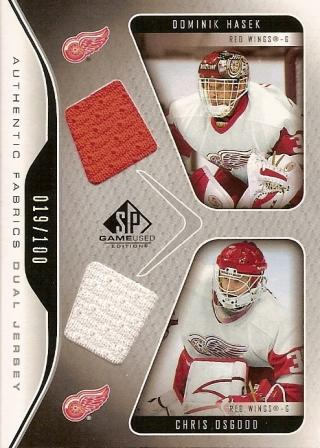 2006-07 SP Game Used Authentic Fabrics Dual #AF2HO Dominik Hasek/Chris Osgood