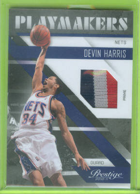 2010-11 Prestige Playmakers Materials Prime #3 Devin Harris/49