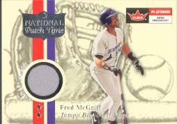 2001 Fleer Platinum National Patch Time Jersey Fred McGriff