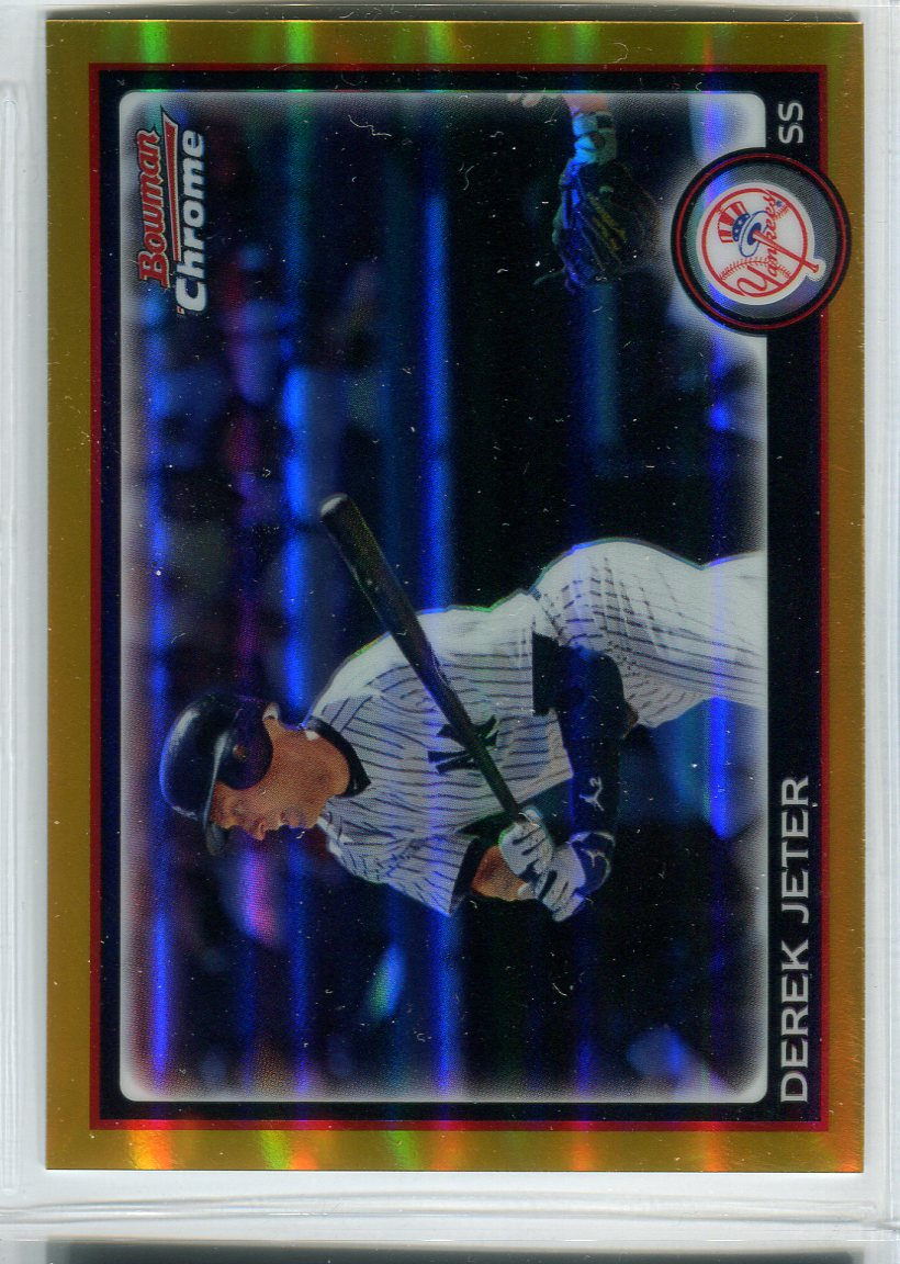 2010 Bowman Chrome Gold Refractors #147 Derek Jeter