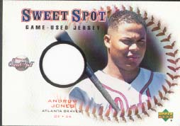 2001 Upper Deck Sweet Spot Game Jersey #J-AJ, Andruw Jones
