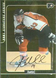 2000-01 BAP Signature Series Autographs Gold #222, Justin Williams