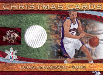 2009-10 Panini Season Update Christmas Cards Materials #27 Louis Amundson