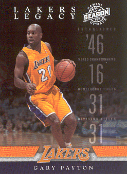 2009-10 Panini Season Update Lakers Legacy #7 Gary Payton