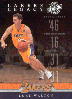 2009-10 Panini Season Update Lakers Legacy #8 Luke Walton
