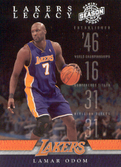 2009-10 Panini Season Update Lakers Legacy #9 Lamar Odom