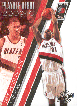 2009-10 Panini Season Update Playoff Debuts #12 Jeff Pendergraph