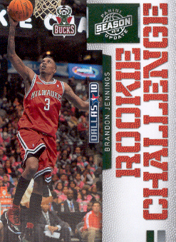 2009-10 Panini Season Update Rookie Challenge #3 Brandon Jennings