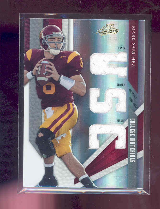 2009 Absolute Memorabilia College Materials #16 Mark Sanchez/25