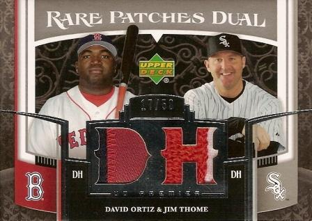 2007 Upper Deck Premier Rare Patches Dual #OT David Ortiz/Jim Thome