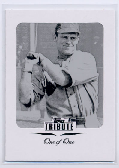 2011 Topps Tribute Framed Printing Plates Black #60 George Sisler