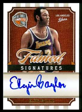 2009-10 Hall of Fame Famed Signatures #4 Elgin Baylor/199